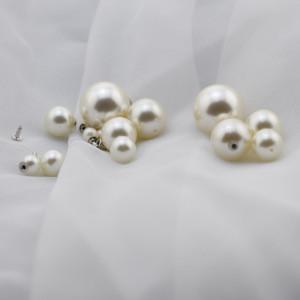 High stability Pearl Metal Rivets Studs button ABS pearl rivet for garment