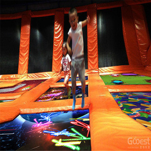 Interactive projection trampoline game doftware