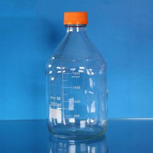 Lab Borosilicate Glassware Reagent Bottle With Screw Cover