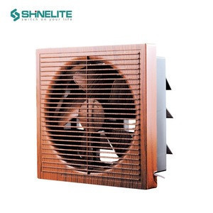 Luxury Wooden bathroom window exhaust fan small-size, plastic 12 inch low noise wall exhaust fan