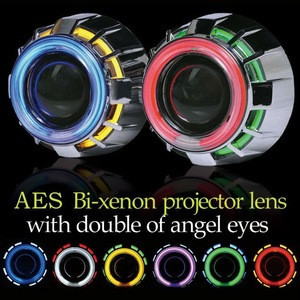 Manufacture Car Accessory Double Angel Eyes Bixenon Projector light, motor angel eye projector