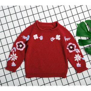 New autumn 2018 100 hand-made crochet baby clothes toddler girl sweater