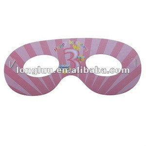Popular paper round masquerade party mask for kids