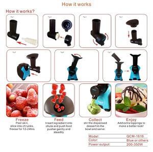 Portable Kitchen Appliances Fruit Ice Cream Maker