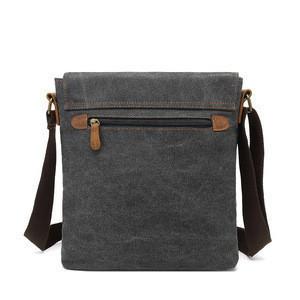 Small Canvas Shoulder Crossbody Mens Purse Vintage Custom Messenger Bag