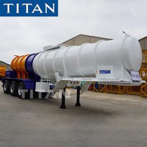 TITAN chemical liquid transport fuel tanker Sodium hydroxide trailers