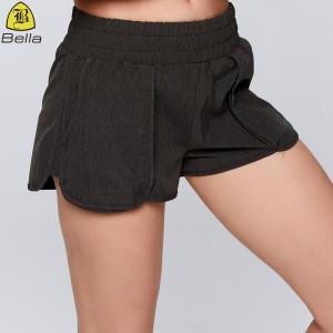 Widening loose tight waistband yoga wear pocket running women sports shorts