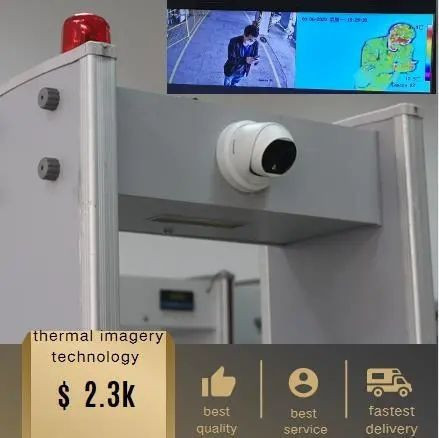 Walkthrough Metal Detector with Thermometry/Infrared Thermometer