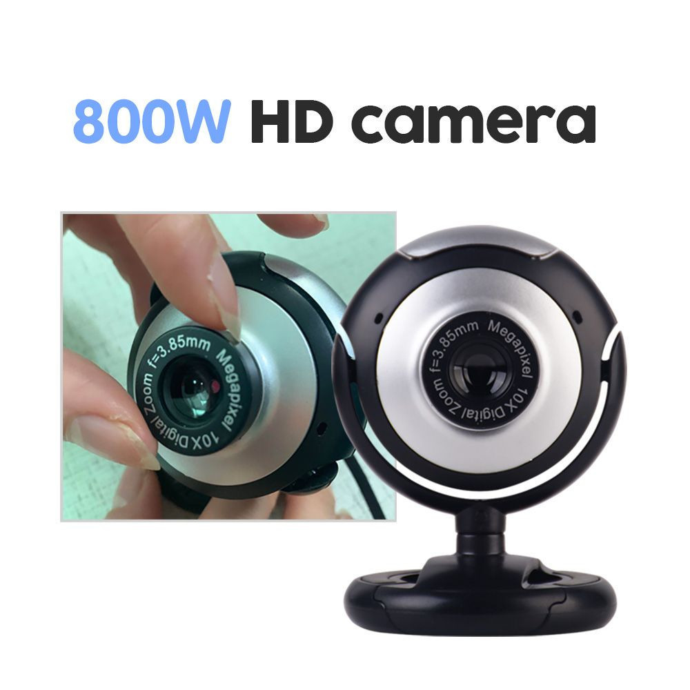USB Home office Camera Rotatable Video Recording Web Camera with Microphone For PC Computer(OEM HD Webcam)