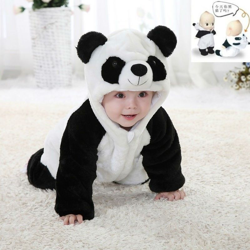 Baby Warm Winter Jumpsuits Overall Romper Animal Hooded Romper Kids Boy Girl Climbing Pajamas Clothes Outfits