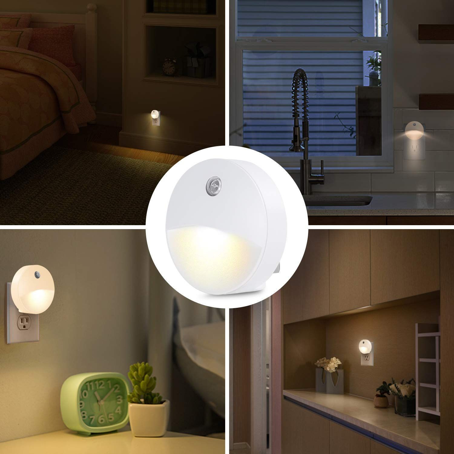Auto-sensor Plug-in wall socket led motion sensor night light