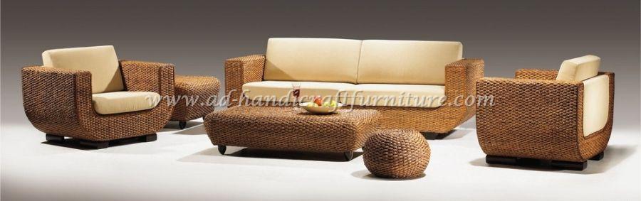 Water Hyacinth Sofa Set WASF- 001