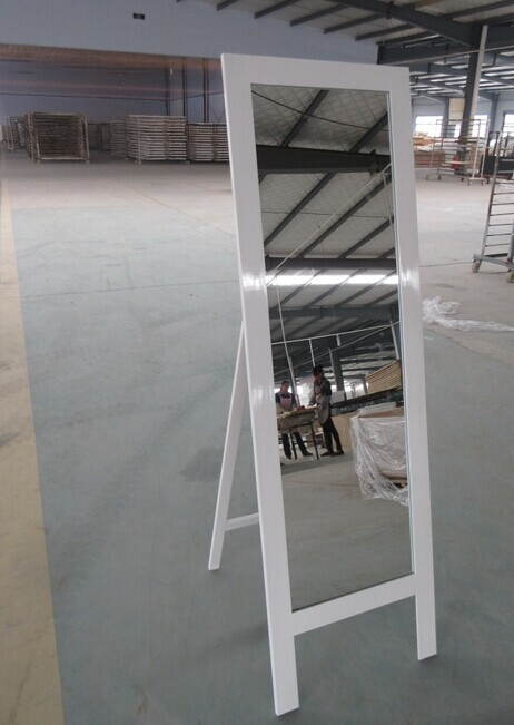 Floor Standing Wooden Framed Full Length Mirror