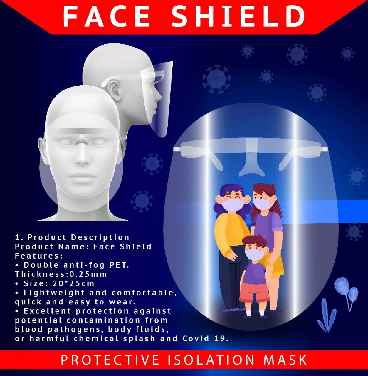 High-Quality Face shield