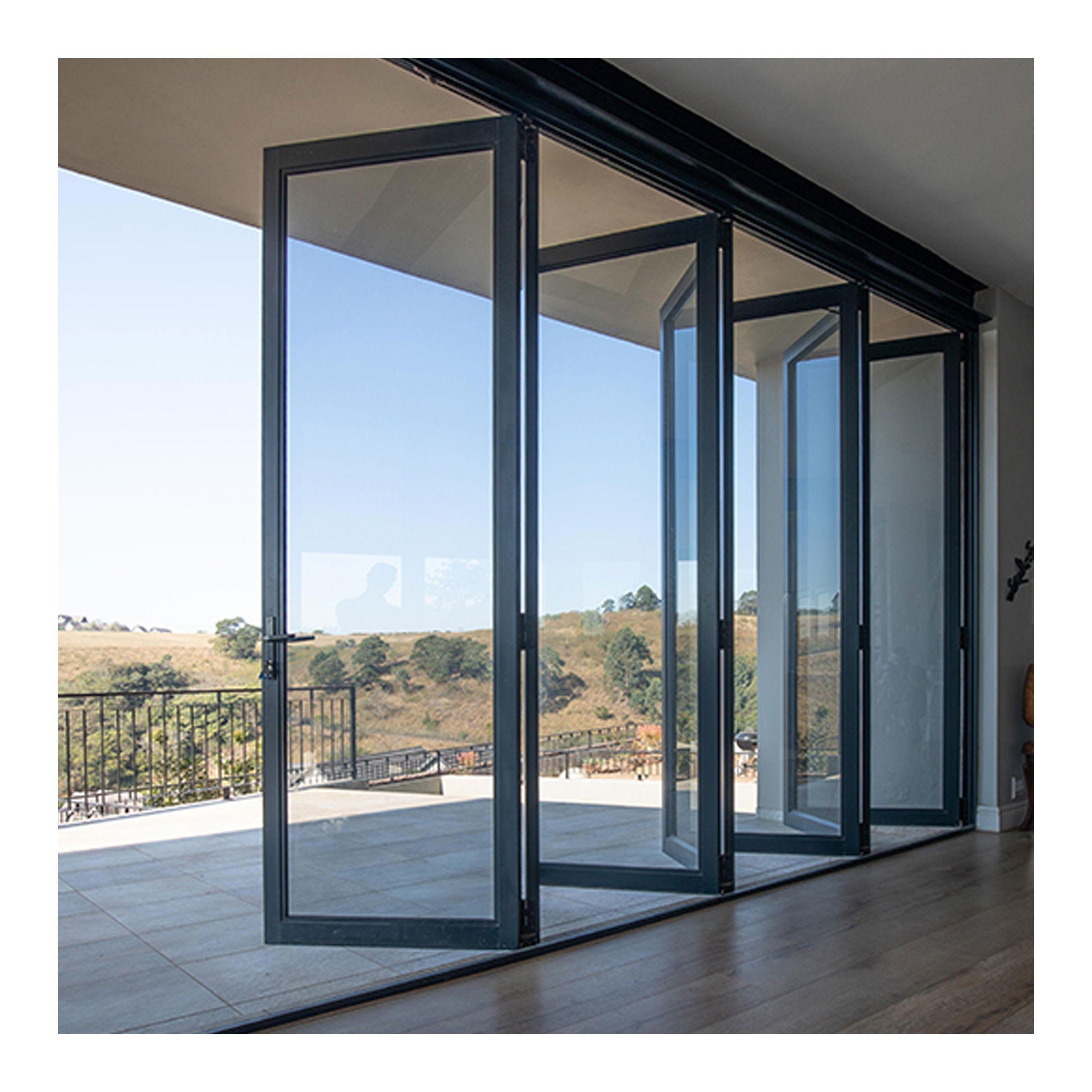 BARON Certified by Australian Glass & Window Association Supply Cheap Double Glazed Aluminium bifold door