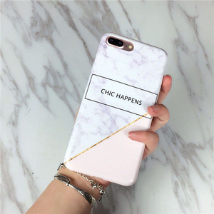 2017 Hot selling imd TPU electroplate phone back cover for iPhone 6/7s, marbles phone case manufactur