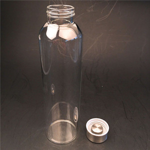 330-750ml wholesale portable mineral water glass making reusable outdoor sport travel drinking glass bottle
