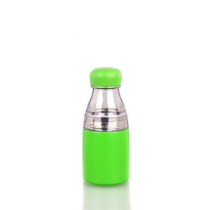 350ml double wall stainless steel slender thermal water bottle with a removable plastic part