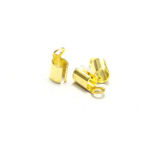 9mm cable imitation gold wire rope end cap