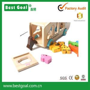 Bestgoal 2017 new toys for kid animal bus wooden kids toys