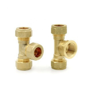 Brass Socket Union Adapter Plumbing Pipe Fitting Compression Thread Tee