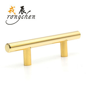 Cabinet T bar custom handle with golden plated