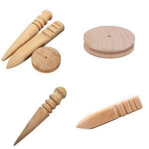 Carving Tools Multi-Size Burnisher Leather Craft Edge Round Slicker Wood Leathercraft Sewing Tools