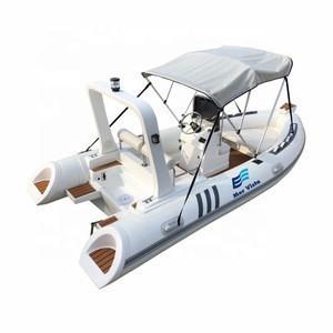 CE Novel Item Durable PVC Rigid Inflatable Fiberglass Rib 480 Boat For Sale