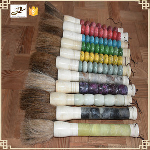 Chinese home handcrafts decoration accessories wholesale gifts chinese new big calligraphy jade writing brush