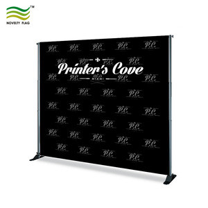 Custom adjustable banner stand 8 ft x 8 ft step and repeat banner