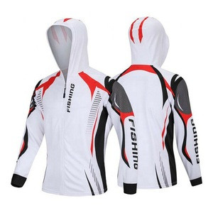 Custom quick dry cycling jackets hoodies jersey  breathable long sleeve tournament sublimation fishing jersey for man