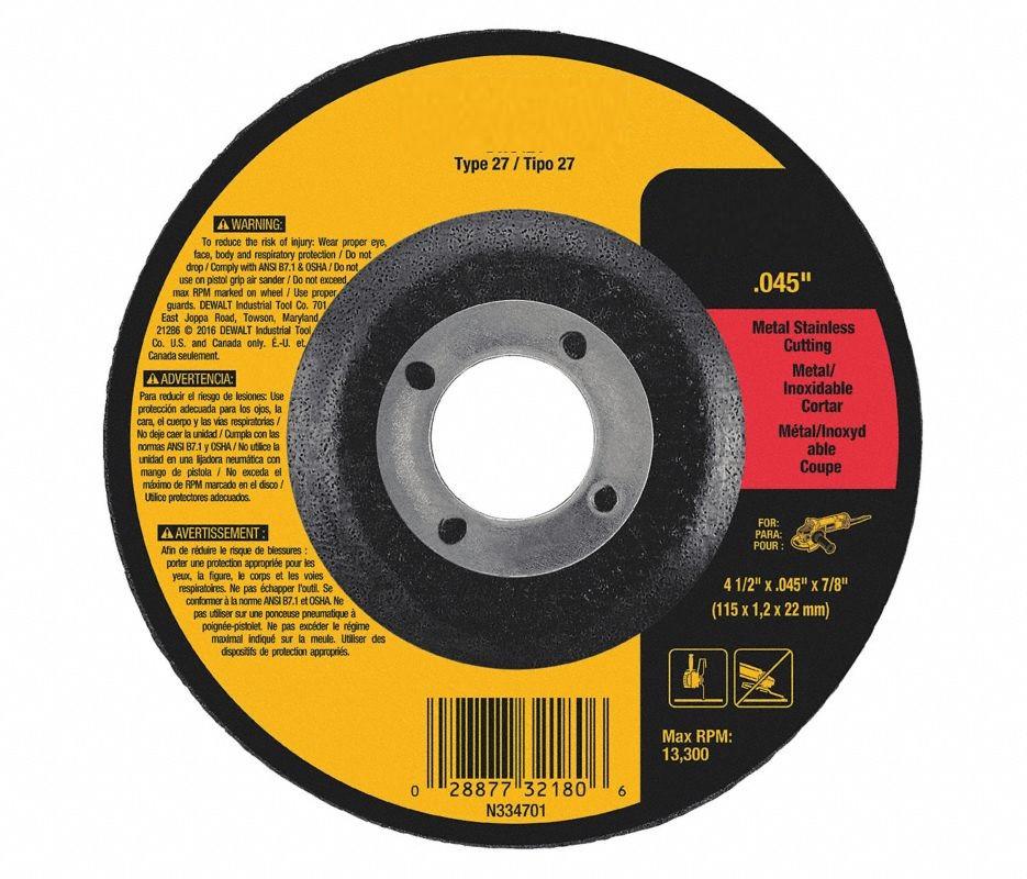 Depressed Ctr Wheel T27 4.5x0.045x7/8 AO