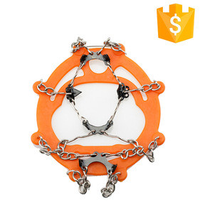 Eco-Friendly Anti Slip Climbing Crampons Silicone Ice Grips Cleats