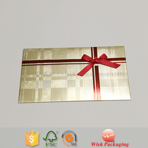 Embossed textures line Paper envelope with silk ribbon butterfly dot