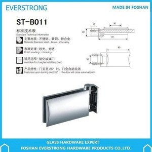 Everstrong shower room glass accessories ST-B011solid  brass wall to glass door screen  hinge fittings