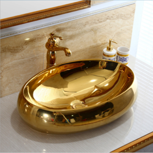 Gold color sink for sanitary ware bathroom