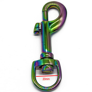 High Quality Customized Logo Handbag accessories   Metal Rainbow Painted Hook for Dog Leash