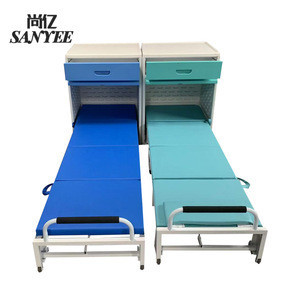 Hospital furniture wall bed connecting cabinet foldable single bed easy to storage SY-R2020PU