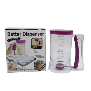 Kitchen Pancake Batter Dispenser Baking Tools of Cupcakes, Waffles, Cakes, Muffin Mix, Measuring Cups 900ml