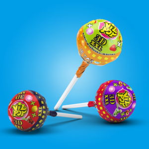 """LOLLIPOP Caramel candies on a stick """"VILPOP 3D XXL"""",Vilpop, Hard Candy/ candy sweet"""