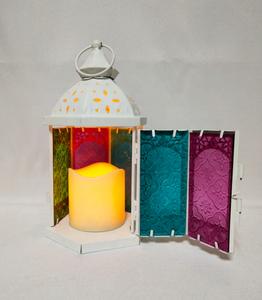 Moroccan lantern, 3AAA battery, whit