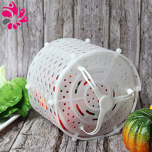 Multifunctional Collapsible Silicone Washing Draining Cooking Steamer Basket