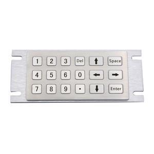 Multifunctional Industrial Metal Numpad 6x3 18 key keypad for fuel dispenser