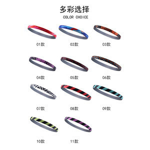 Outdoor Running Multifunction Hairband Silica Gel Stop Sweat Band Sports Sweatband