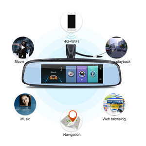 "Phisung E09 8"" 4G car black box RAM2GB+ROM32GB ADAS  mirror car recorder GPS navi WIFI  HD1080P DVR"