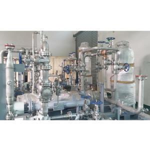 Skid-mounted pressure piping installation pressure vessel
