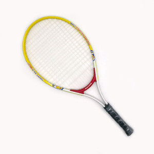 Steel iron Alu material custom OEM logo and color low price fitted package promotion cheap price tennis racket