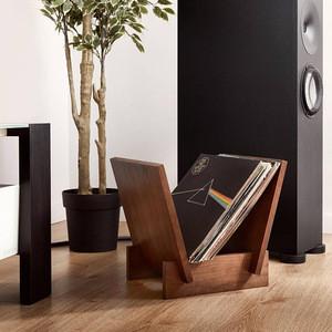 Wood Vinyl Record Storage Display Flip Rack LP Record Holder