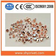 Silver rivet contact,