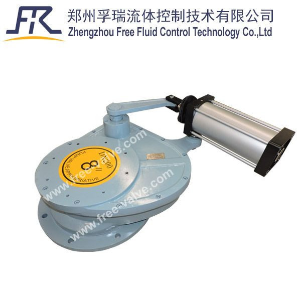 FRZ643TC short structure Pneumatic Swing Ceramic disc Feeding Valve for Replacing dome valve at coal power plants